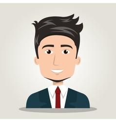 cartoon man elegant human resources vector image