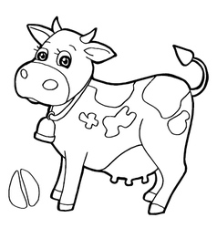 Cattle with paw print Coloring Pages vector image