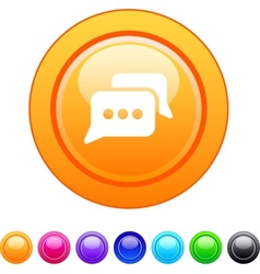 Chat circle button vector image vector image