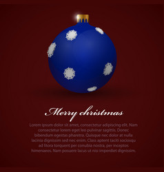 christmas toy background vector image