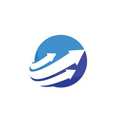 Circle logo with arrow vector