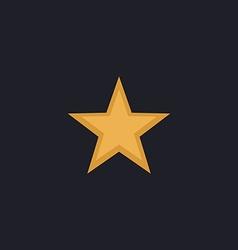 Clasic star computer symbol vector image