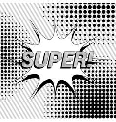 Comic super wording concept vector