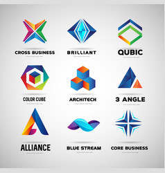 company and technology logo collection template vector image