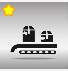 conveyor system box vector image