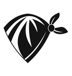 Cowboy neckerchief icon simple style vector