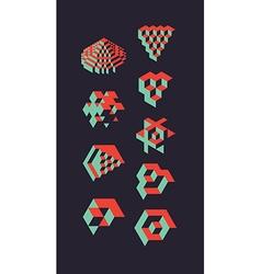 CubicalObjectsSet vector image