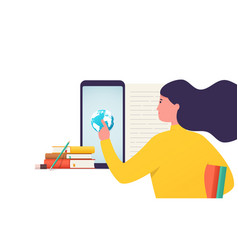 digital electronic online education training vector image