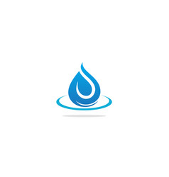 Droplet abstract water leaf logo vector