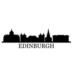 edinburgh skyline vector image