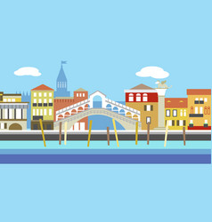 European cityscape in simple style vector