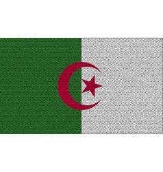 Flags Algeria on denim texture vector