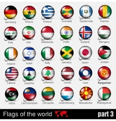 flags all countries in 3d ball vector image