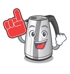 Foam finger mascot cartoon household kitchen vector