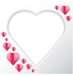 Frame heart background in the form of heart for vector
