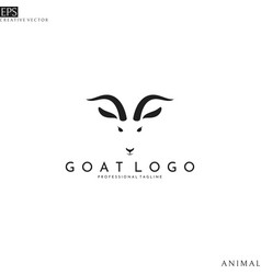 goat head logo template vector image
