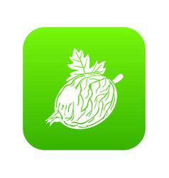 Gooseberry icon green vector