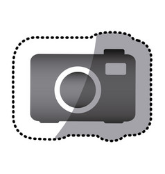Grayscale camera photo icon vector