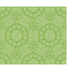 Greenery geometric ornament seamless pattern vector