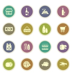 Grocery store icon vector image