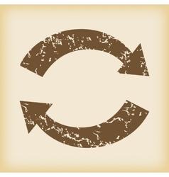 Grungy exchange icon vector image