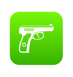 gun icon digital green vector image