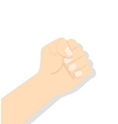 Hand raised fist vector