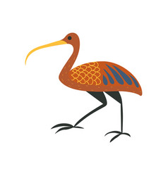 Ibis bird symbol of traditional egyptian culture vector