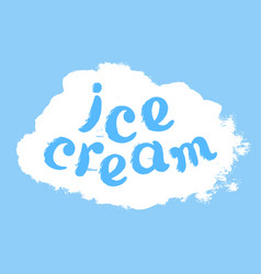 Ice cream blue 1 vector