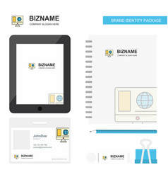 internet browsing business logo tab app diary pvc vector image