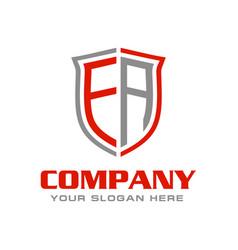Letter ea logo design vector