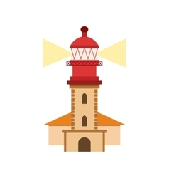 Lighthouse Of Nazare Portuguese Famous Symbol vector image