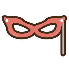 Mask party isolated icon vector