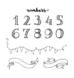 numbers and ribbons vector image