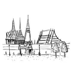 Old city of bangkok vector
