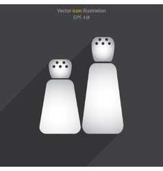pepper shaker web icon vector image