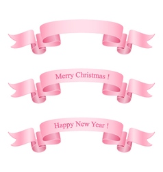 Pink Ribbons Isolated on White Background vector