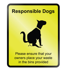 Responsible dogs vector