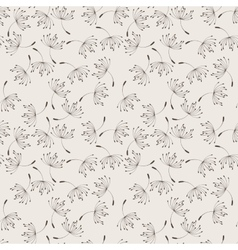 Seamless floral pattern of flying vector