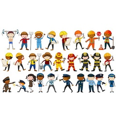 Set of people in different occupations vector image