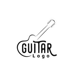 simple guitar instrument logo design inspiration vector image