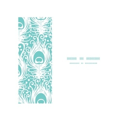 Soft peacock feathers horizontal frame seamless vector image