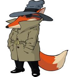 spy fox vector image