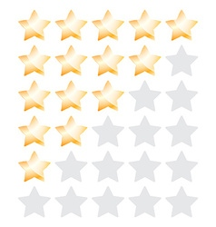 Star rating with bronze stars vector