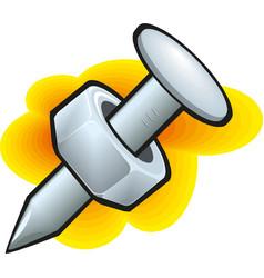 steel dowel icon vector image