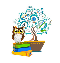 Study tree free vector