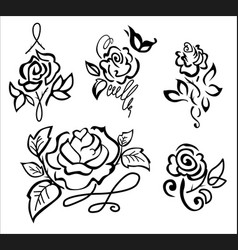 stylized rose vector image