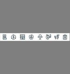 Technology future line icons linear set vector