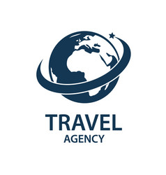 Travel earth logo vector