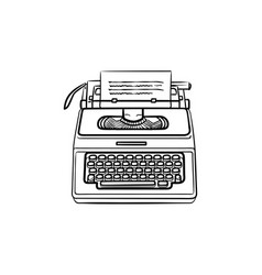Typewriter hand drawn outline doodle icon vector